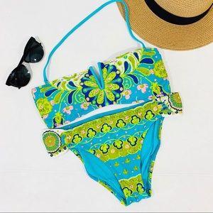 Trina Turk Woodstock floral bandeau bikini